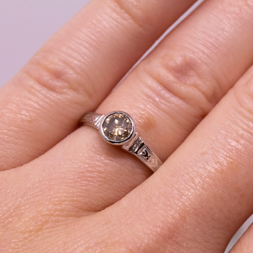 Brown Diamond Cassandra 18kt Ring by Dan Peligrad for Cynthia Scott Jewelry