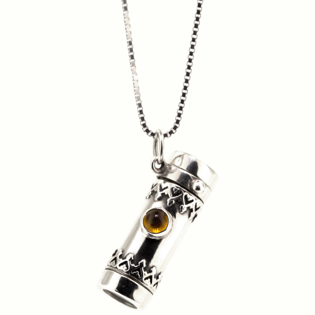 Sterling Royal Kaleidoscope Necklace with Citrine made in USA by Kevin and Deborah Healy for Cynthia Scott Jewelry