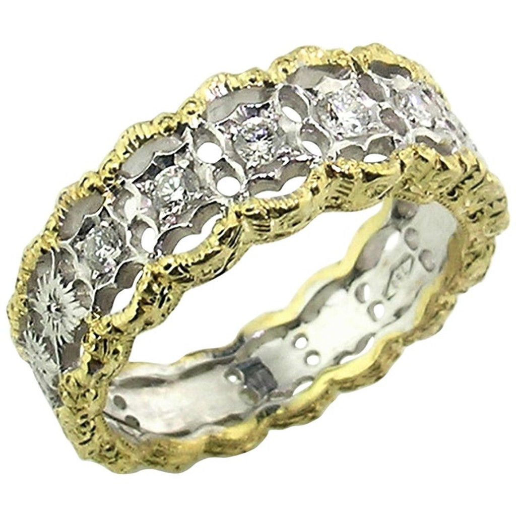 Stefania Diamond 18kt Band made in Florence Italy for Cynthia Scott Jewelry