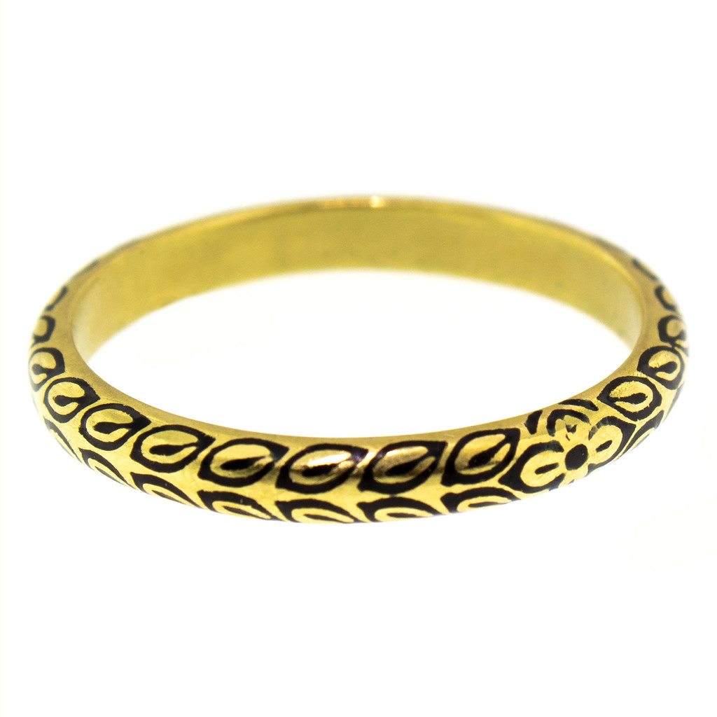 Zahra Black Enamel and 18kt Band made in USA by Dan Peligrad for Cynthia Scott Jewelry