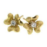 Floral Diamond 18kt Stud Earrings made in Florence, Italy for Cynthia Scott Jewelry