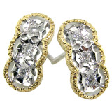 Stefania Diamond 18kt Earrings made in Florence, Italy for Cynthia Scott Jewelry