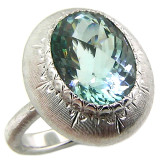 Aquamarine 18kt Bianca Ring made in Florence, Italy by Cynthia Scott Jewelry