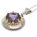 Purple Scapolite 18kt Bianca Pendant made in Florence Italy by Cynthia Scott Jewelry
