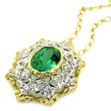 Green Tourmaline 18kt Giulia Pendant made in Florence Italy by Cynthia Scott Jewelry