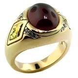 Spessartite Garnet Men's Ring