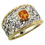 Mandarin Garnet 18kt Contessa Ring made in Florence, Italy by Cynthia Scott Jewelry