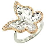 Butterfly Diamond 18kt Ring made in Florence, Italy for Cynthia Scott Jewelry