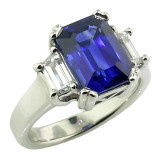 Royal Blue Sapphire & Diamond Ring