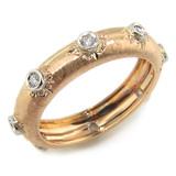 Adriana Florentine Engraved Diamond Eternity Band made in Italy for Cynthia Scott Jewelry