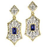 Blue Sapphire & Diamond Giulia Earrings