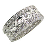 Violetta Florentine Engraved Diamond Band made in Italy for Cynthia Scott Jewelry