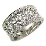 Emma Florentine Engraved Diamond Band made in Italy for Cynthia Scott Jewelry