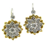 Lucia Diamond 18kt Drop Earrings made in Florence, Italy for Cynthia Scott Jewelry