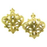 Fleur de Lis 18kt Drop Earrings made in Florence, Italy for Cynthia Scott Jewelry