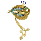 """""""Bird of Paradise"""" 18kt Sculpture Brooch made in Barcelona, Spain by Antoni Farré"""