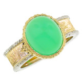 Chrysoprase 18kt Sienna Ring made in Florence, Italy by Cynthia Scott Jewelry