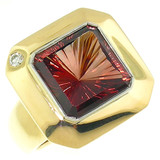 Oregon Sunstone 18kt Aphrodite Ring made in USA by Cynthia Scott Jewelry