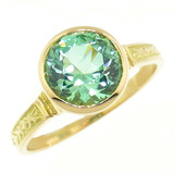 Green Tourmaline 18kt Cassandra Ring made in USA by Cynthia Scott Jewelry