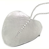 Eucalyptus Leaf in 18kt and Diamond Pendant & Brooch made in USA by Dan Peligrad for Cynthia Scott Jewelry