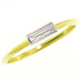 Diamond Baguette 18kt & Platinum Ring by Dan Peligrad for Cynthia Scott Jewelry
