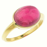 Rubellite Tourmaline Cabochon & 18kt Ring by Dan Peligrad for Cynthia Scott Jewelry