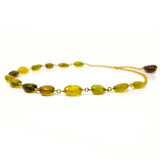 Green & Gold Tourmaline & 18kt River Rocks Necklace by Dan Peligrad for Cynthia Scott Jewelry