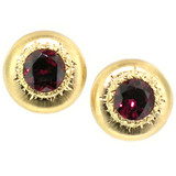 Rhodolite Garnet Bianca 18kt Earrings made in Italy by Cynthia Scott Jewelry