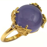Chalcedony 18kt Sylvia Ring made in Florence, Italy by Cynthia Scott Jewelry