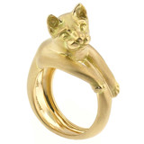 18kt Cat Ring by Dan Peligrad for Cynthia Scott Jewelry
