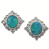 Black Opal Alessia 18kt Earrings made in Italy by Cynthia Scott Jewelry