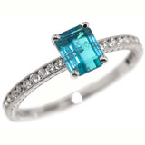 Brazilian Paraiba Tourmaline Platinum Ring made in USA by Cynthia Scott Jewelry
