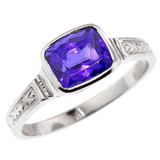 1.90ct Tanzanite and Platinum Cassandra Ring, Made in USA by Dan Peligrad for Cynthia Scott Jewelry