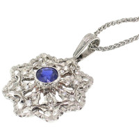 Sapphire 18kt Giada Pendant made in Florence, Italy by Cynthia Scott Jewelry