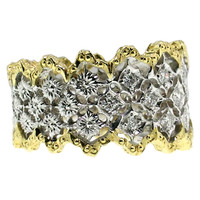 Caprice Florentine Engraved Diamond Band made in Italy for Cynthia Scott Jewelry