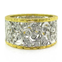 Sofia Florentine Engraved Diamond Band made in Italy for Cynthia Scott Jewelry