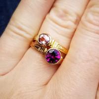 Pink Topaz 18kt Cassandra Ring, Purple Garnet 18kt Cassandra Ring made in USA by Cynthia Scott Jewelry
