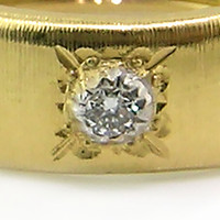 Jeannette Florentine Engraved Diamond Eternity Band made in Italy for Cynthia Scott Jewelry