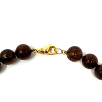 Rutilated Quartz & 18kt Beaded Necklace