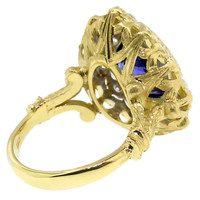 5.08ct Tanzanite in 18kt and Diamond Giulia Ring made in Italy by Cynthia Scott Jewelry