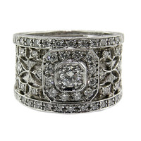 Florentine Lace Diamond 18kt Ring made in Florence Italy for Cynthia Scott Jewelry