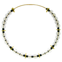 Rock Crystal, 18kt & 20kt Convertible Necklace made in USA by ART Guyon