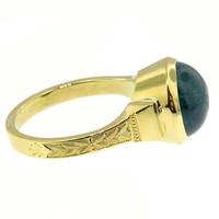 Blue Tourmaline (Indicolite) 18kt Cassandra Ring made in USA by Cynthia Scott Jewelry