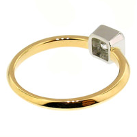 Radiant Cut Diamond in Platinum & 18kt Ring made in USA by Dan Peligrad for Cynthia Scott Jewelry