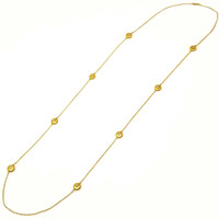 Valentine Diamond 18kt Station Necklace, made in Florence Italy for Cynthia Scott Jewelry