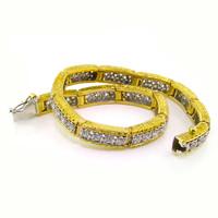 Gianna Florentine Engraved Diamond Bracelet 18kt made in Italy for Cynthia Scott Jewelry