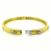 Valentina Diamond 18kt Bangle made in Florence Italy for Cynthia Scott Jewelry