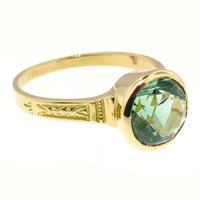 Green Tourmaline 18kt Cassandra Ring made in USA by Cynthia Scott Jewelry