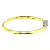 Diamond Baguette 18kt & Platinum Ring by Dan Peligrad for Cynthia Scott Jewelry