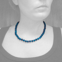 Shattuckite & 18kt Necklace